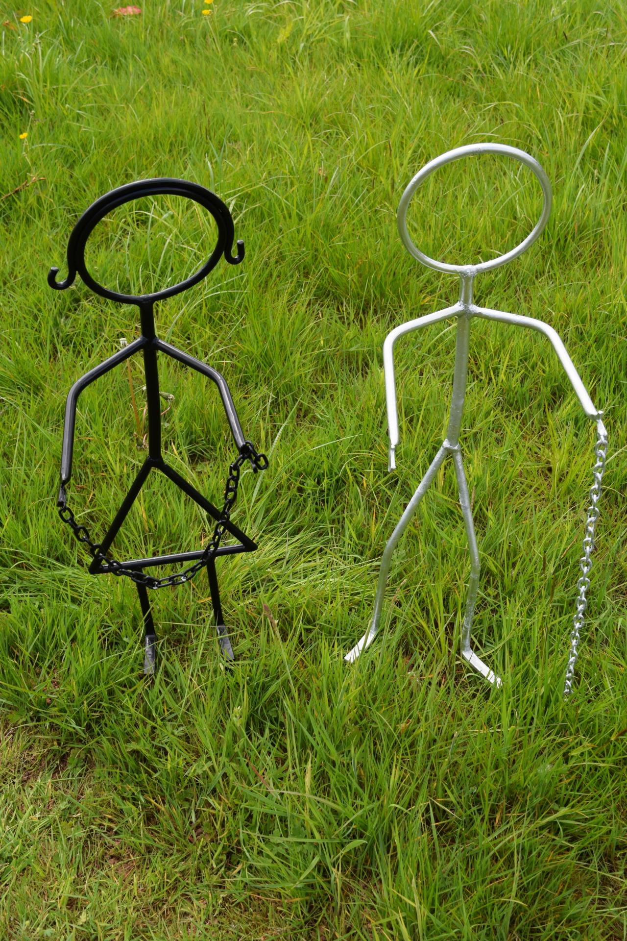 Stickboy and stick girl plant holders