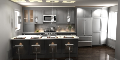 3D design, transitional kitchen design, kitchen design, kitchen render
