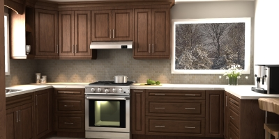 3D design, traditional design, kitchen design, kitchen render