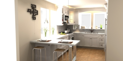 3D design, contemporary kitchen design, kitchen design, kitchen render