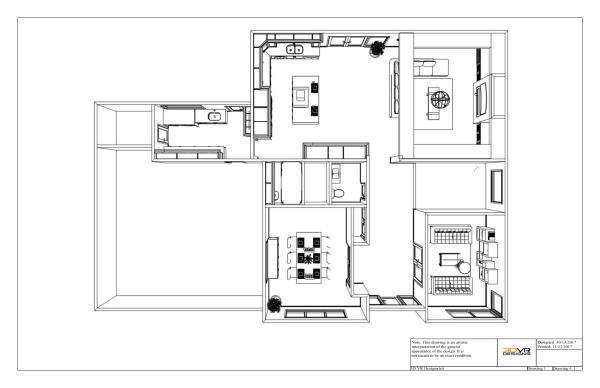 floor plan, 3d rendering, top view, 3d vr designs, layout