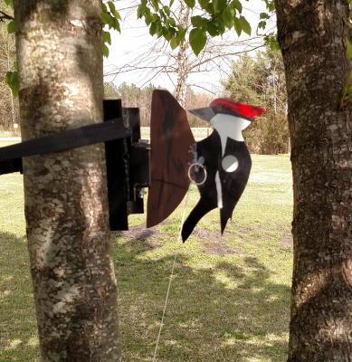 Tree Mounted Woodpecker
