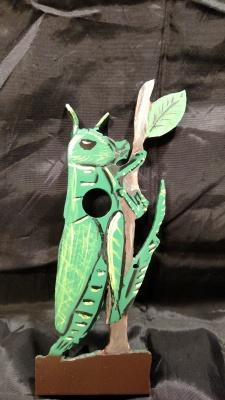 """3D Grasshopper 6"""" tall $60"""