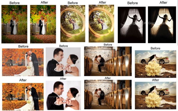 photo re-touch works