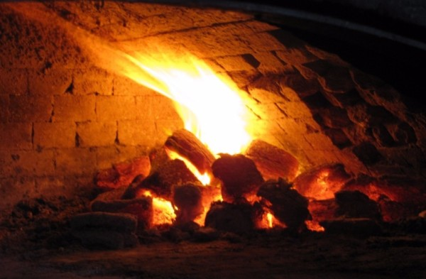Several Pyro Blocks in a Brick Oven