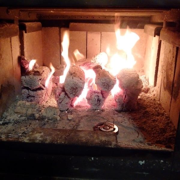 Pyro Blocks Burning in a Woodstove