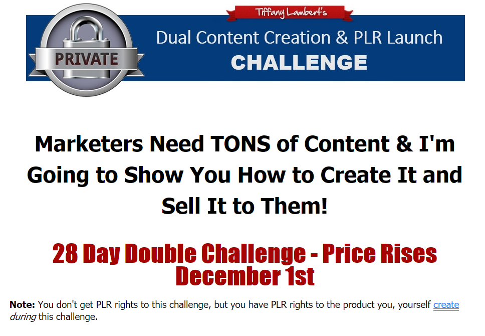 Tiffany Lambert's Duall Content Creation & Launch Challenge