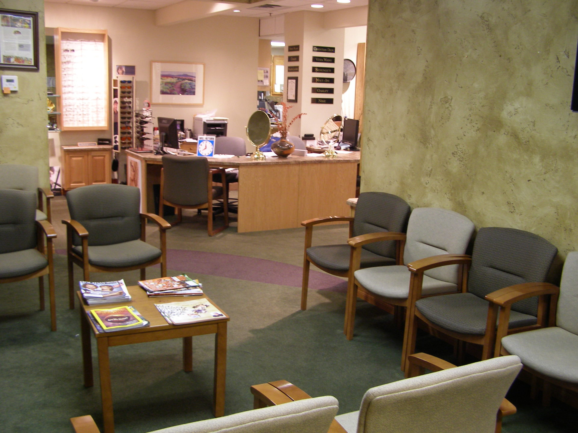 Dr. Ashley Ford's waiting room