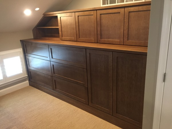 Quarter sawn white oak desk & cabinets
