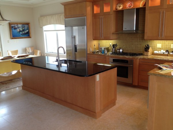 Island panels remade and finished to match existing kitchen cabinetry