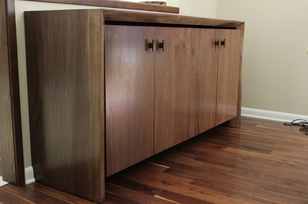 Finished Walnut Cabinetry