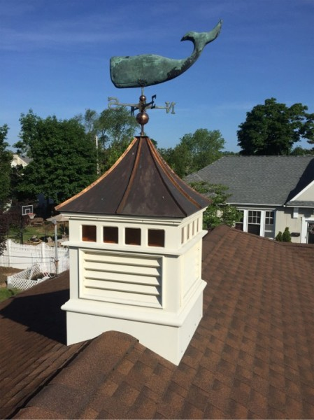 Unique cupola with glass panels