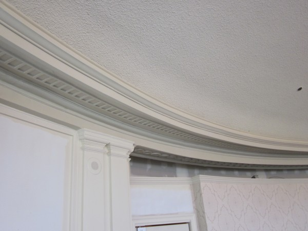 Fix water damage of plaster moulding