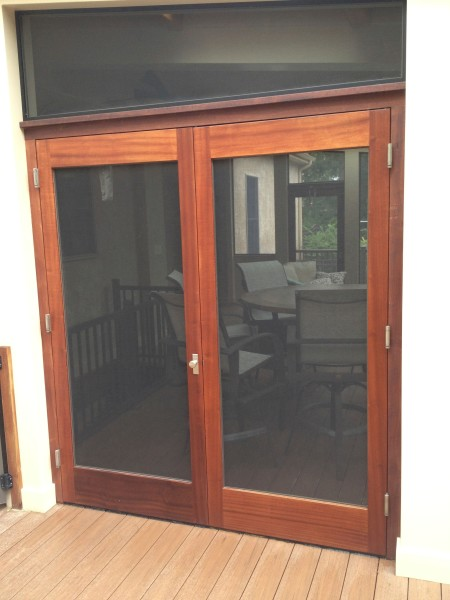 Mahogany screen doors