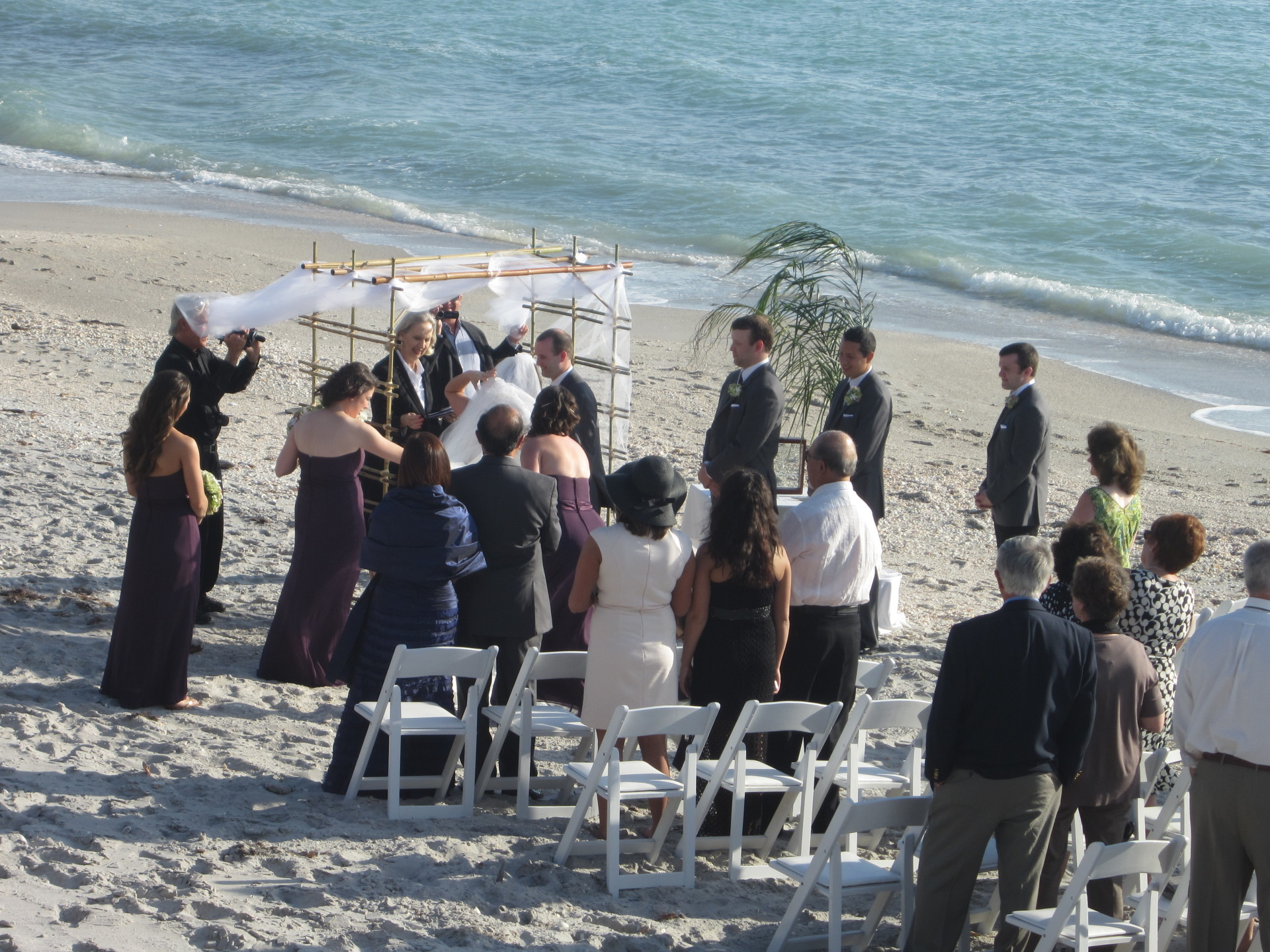 Wedding, Manasota Beach Club