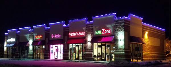 RGB parapet holiday lighting