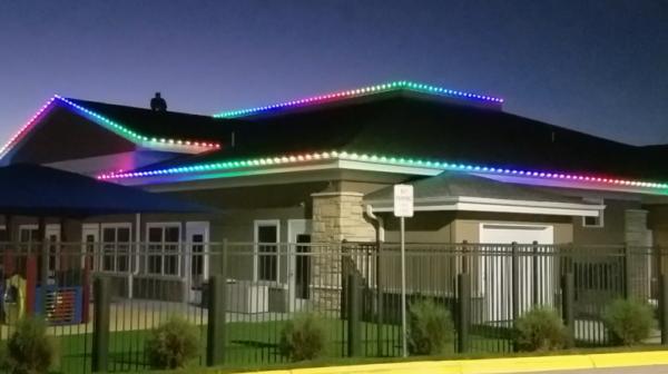 RGB Perimeter Architectural holiday Lighting