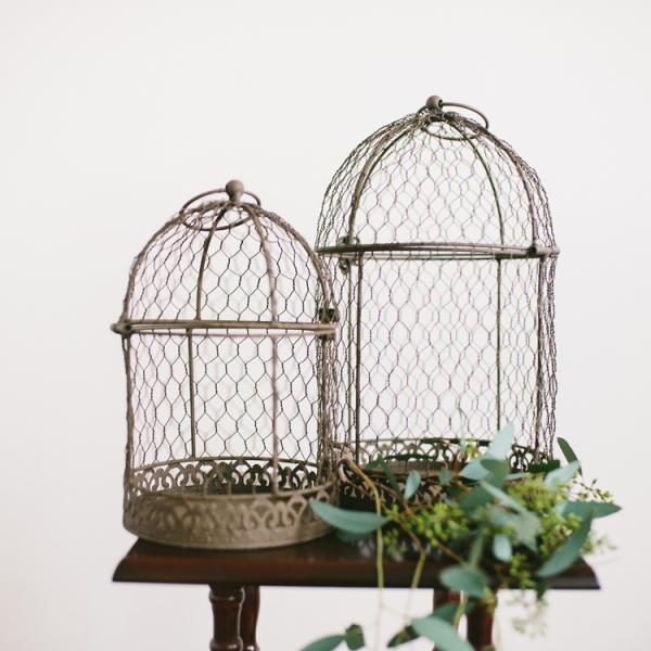 Brown Birdcages - Set of 2