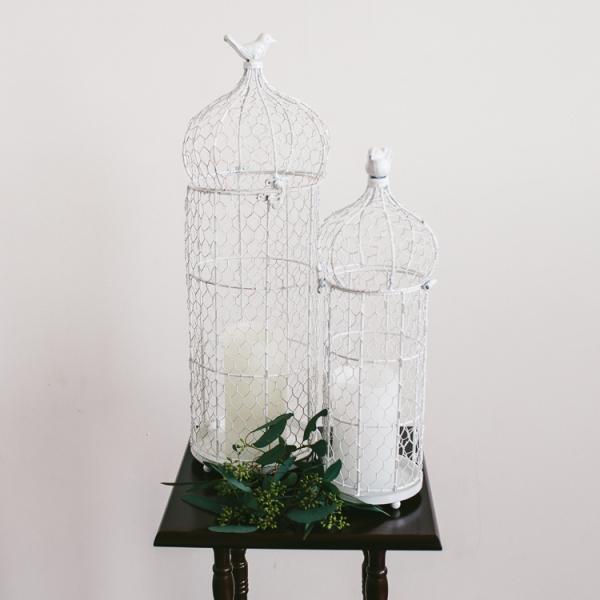 White Birdcages - Set of 2