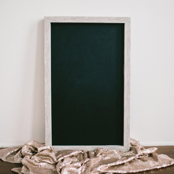 Large Whitewash Chalkboard