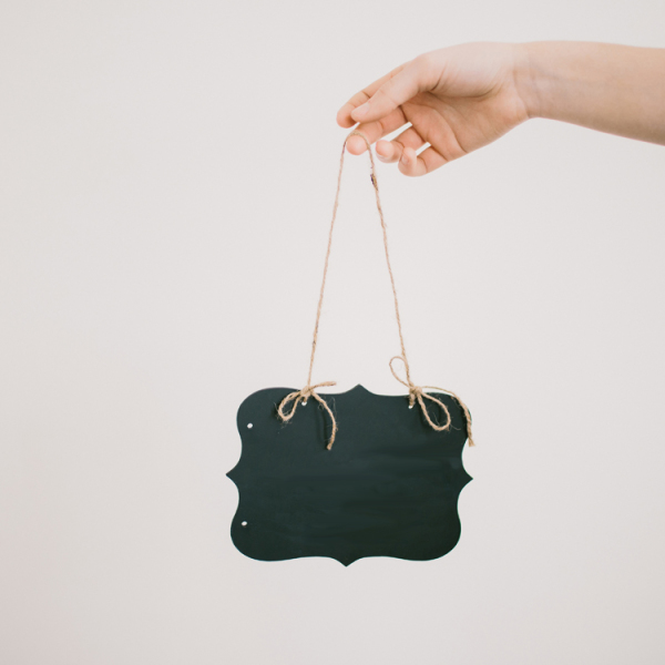 Extra Small Hanging Chalkboard