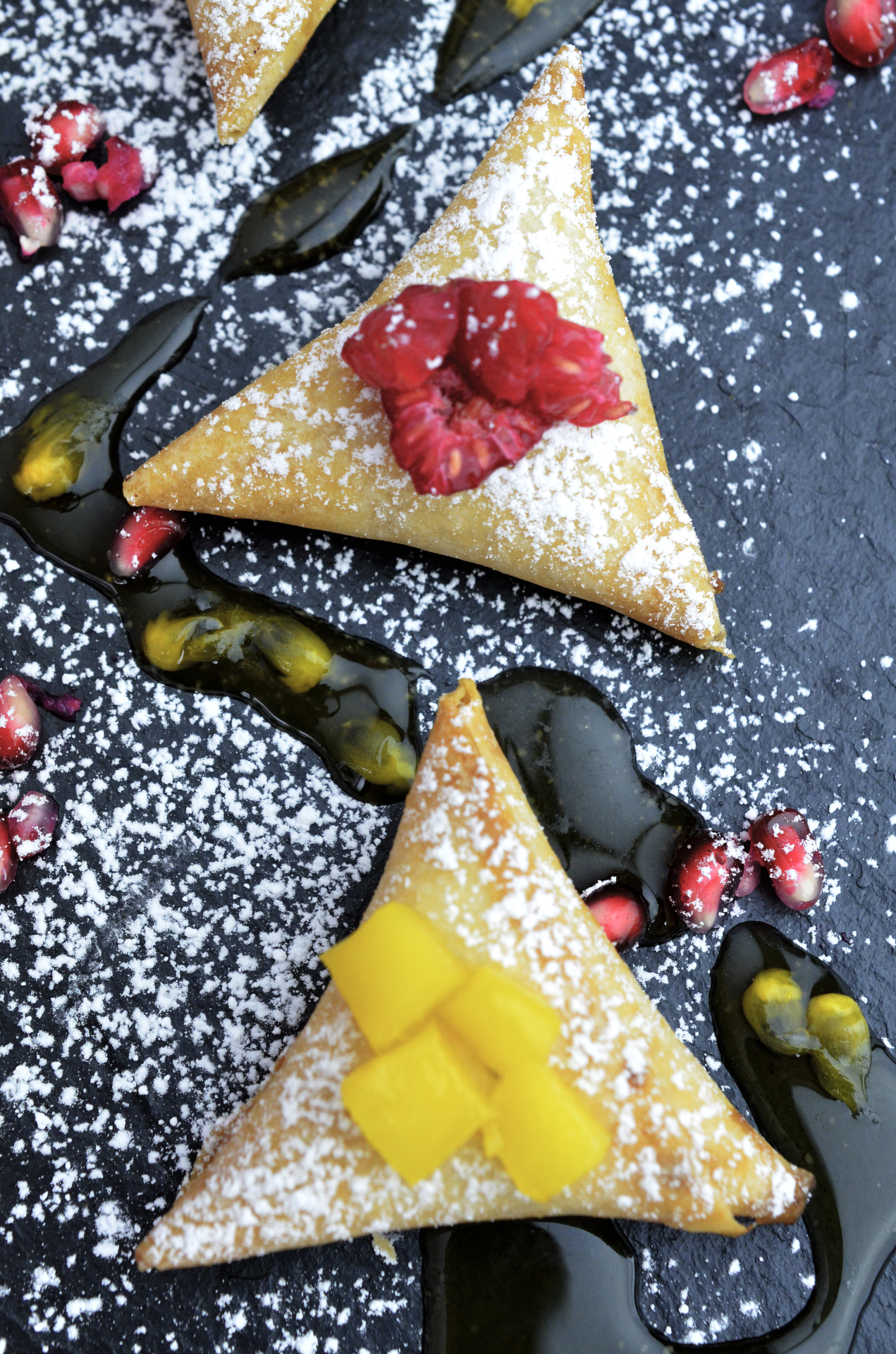 Fruit Pastry Canapes