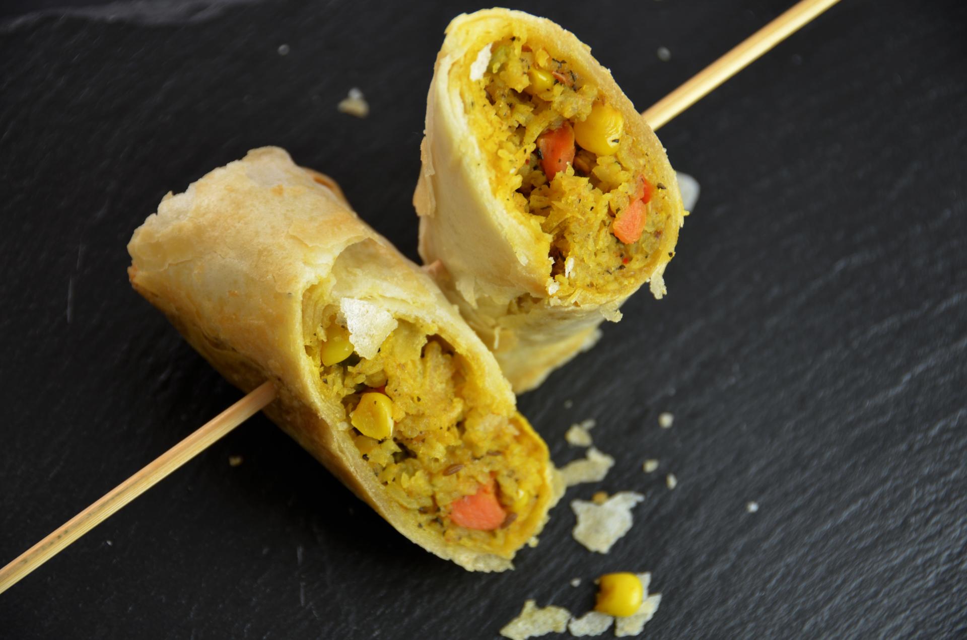 Vegetable Biryani Roll (Vegan)