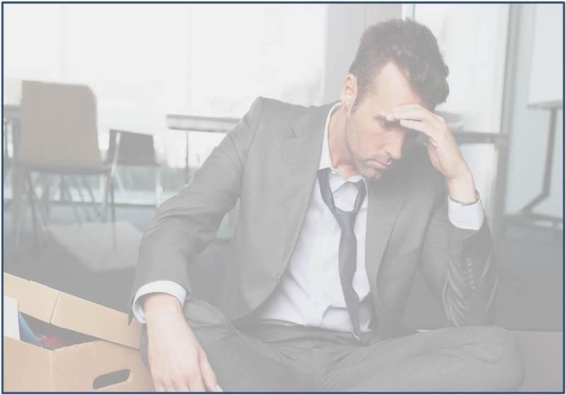 man in despair over job loss