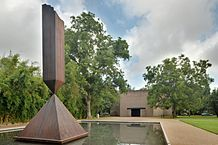 "Barnet Newman, ""Broken Odelisk"",  Rothko Chapel, Photo by Ed Uthman, Houston, Texas"