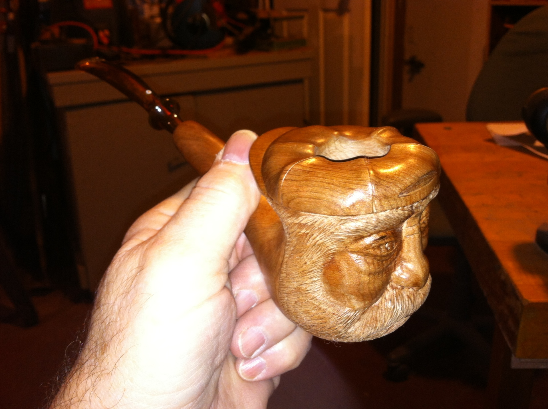 Hand Carved Custom Tobacco Pipe