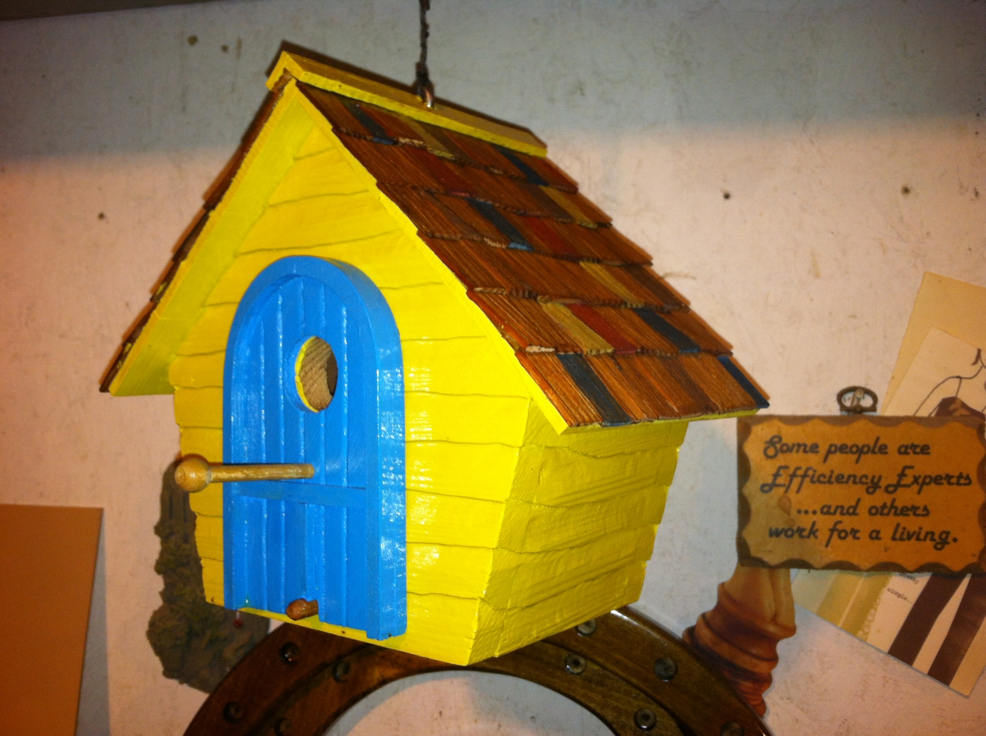 Hand Carved Cedar Birdhouse