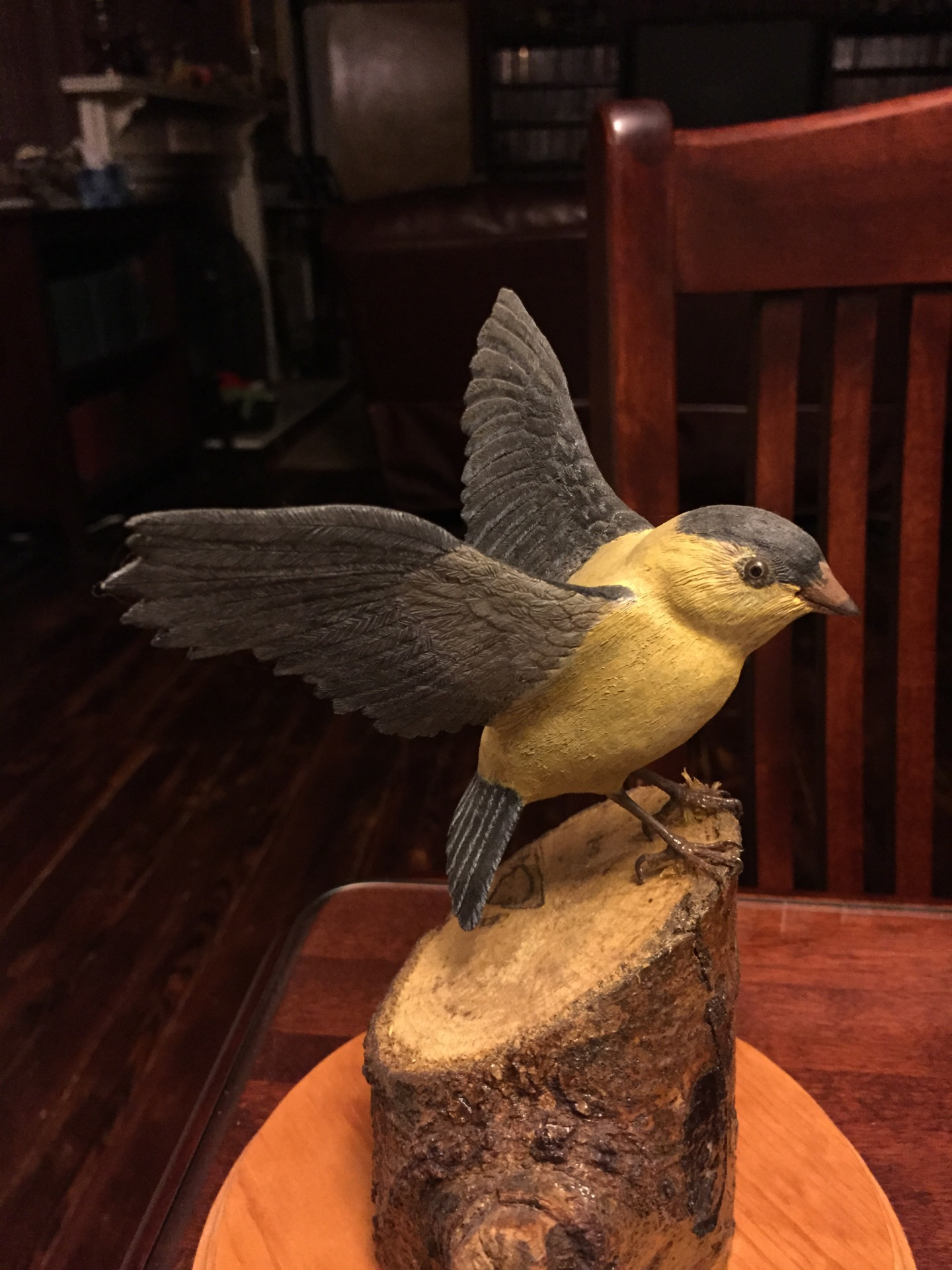 Hand Carved Songbird