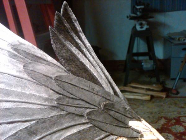 Super detailed eagle carving
