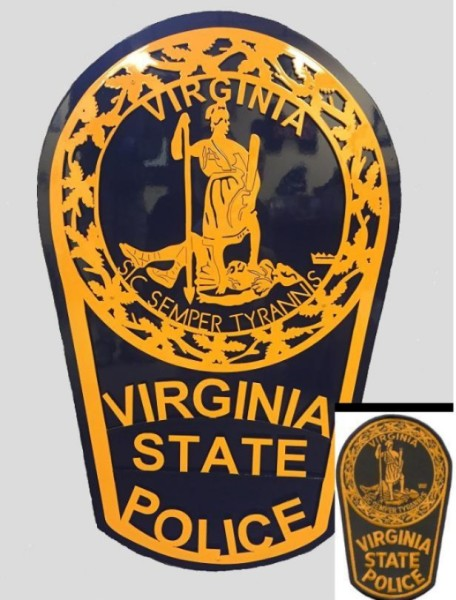 3 Ft Tall State Police Emblem