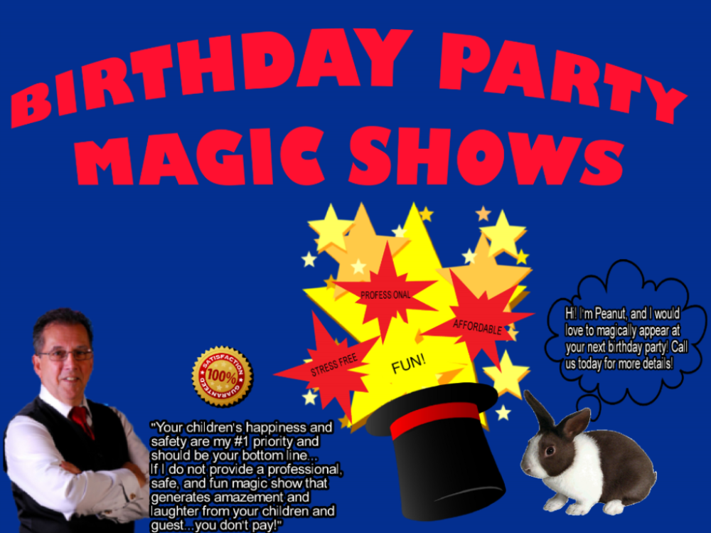 Birthday Party Magic Shows For Kids In KS & MO
