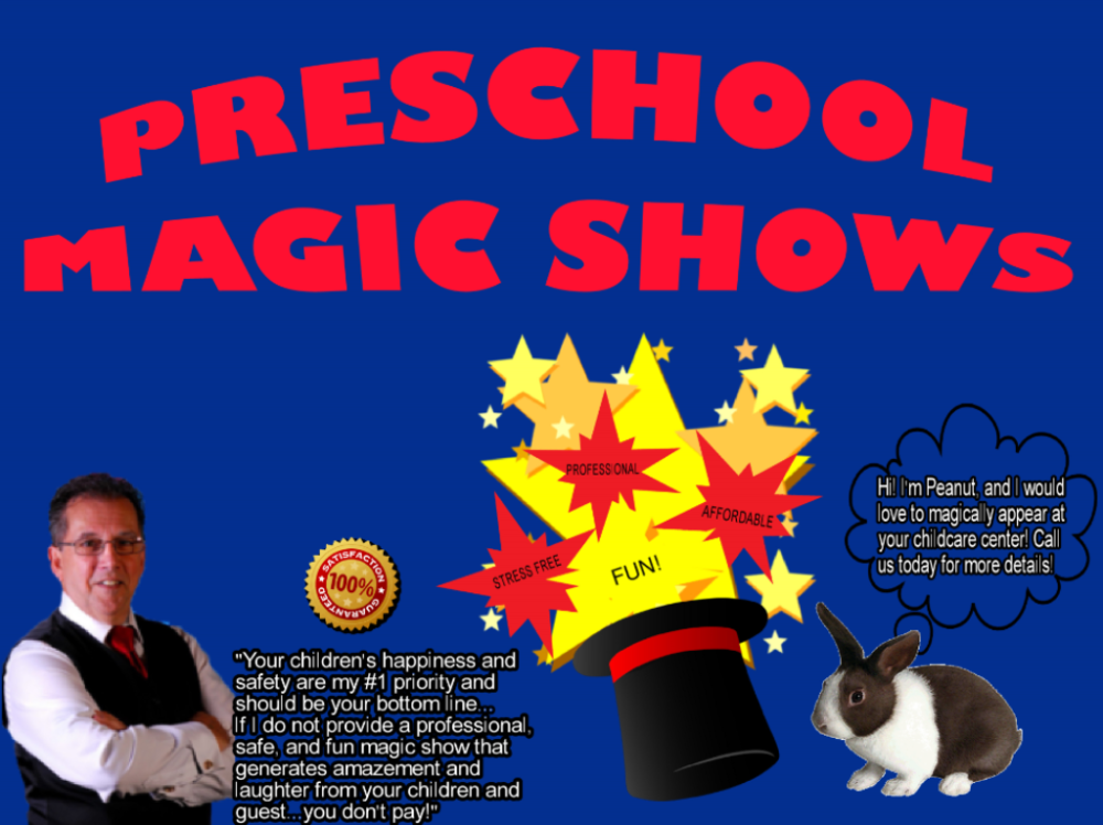 Preschool Magic shows In KS & MO