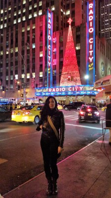 Outside Radio City Musical Hall