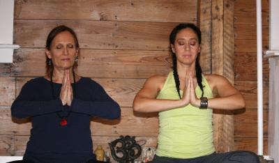 Meditating at PranaMoon Yoga