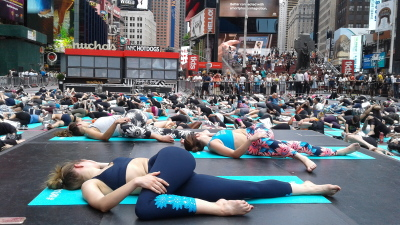 Yogis Take Over Times Square