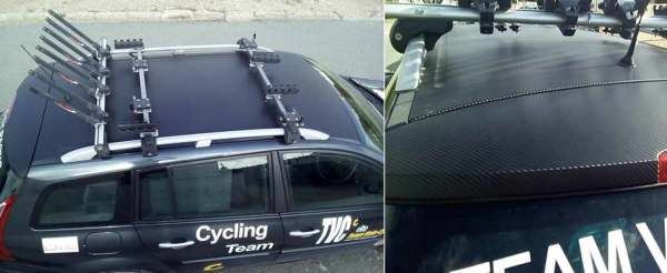 Roof Wrap with Black Carbon Fibre Sticker
