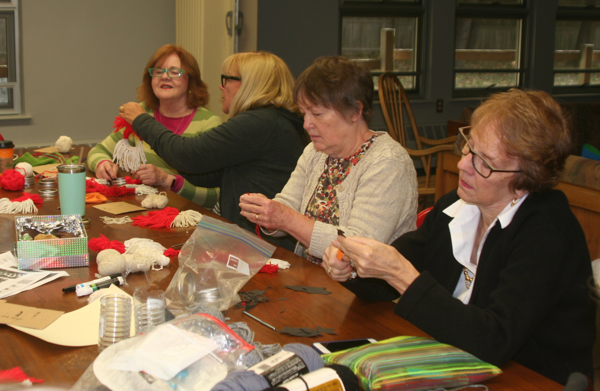 Making Ornaments for the Library's Wish Tree Takes A Lot of Concentration - October 2018