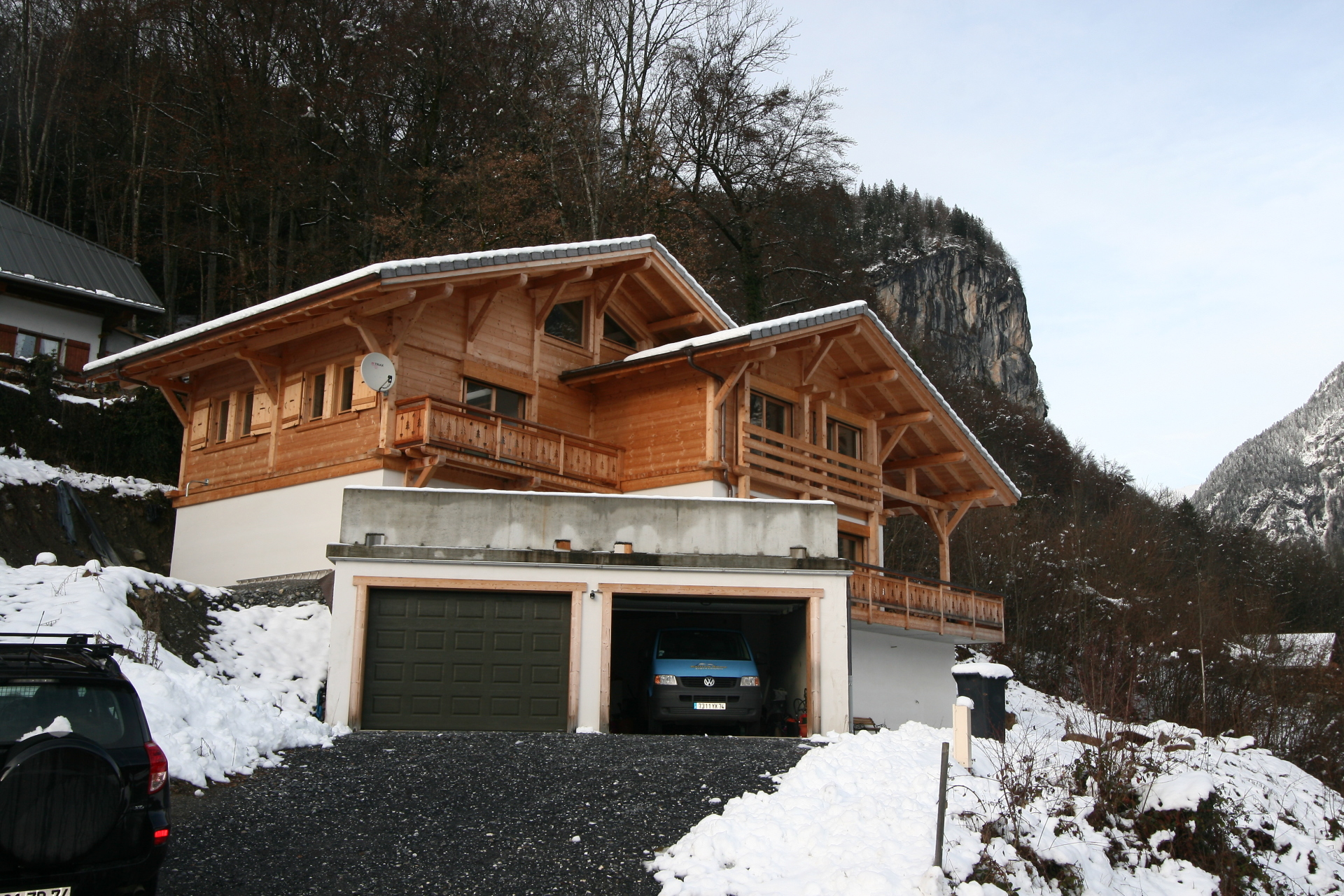 Two year old chalet prior to renovation | Renovation Solutions