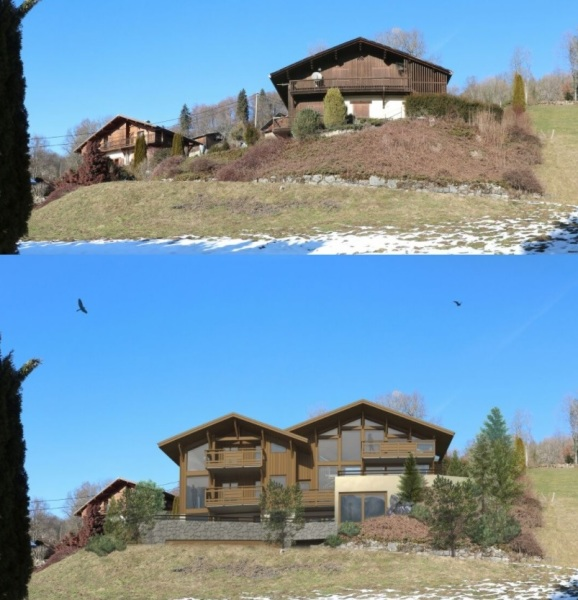 Demolitin & new build chalet, Samoens
