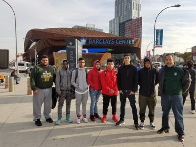 Back2Basics High School Boys @ Brooklyn Nets Vs. Atlanta Hawks game