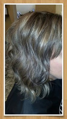 Hair cut and color for short hair at Allure Salon in Springfield, MO
