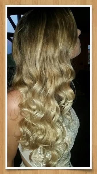 Beach wave curls, hair styling in Springfield, MO