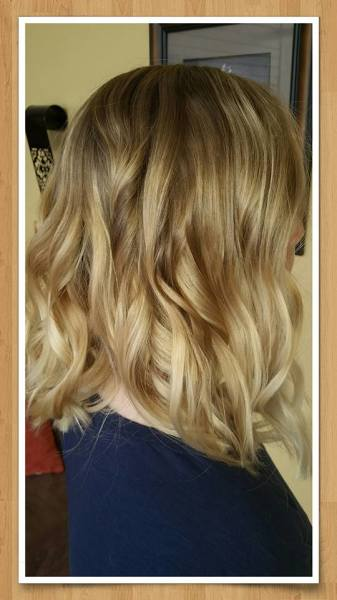 Blonde hair color and styling