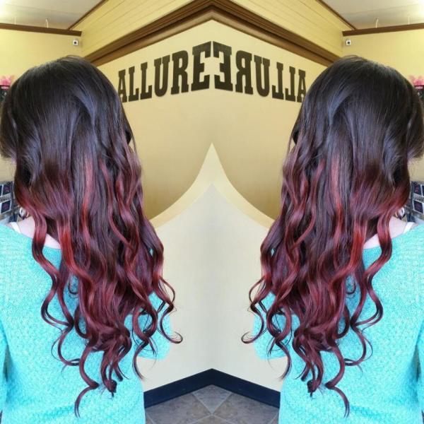 Long ombre hair color