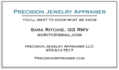 Precision Jewelry Appraiser - Sarah Ritchie, GG RMV