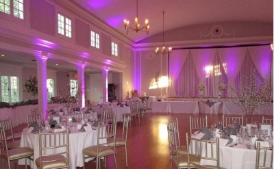 Wedding reception purple lighting WCGR